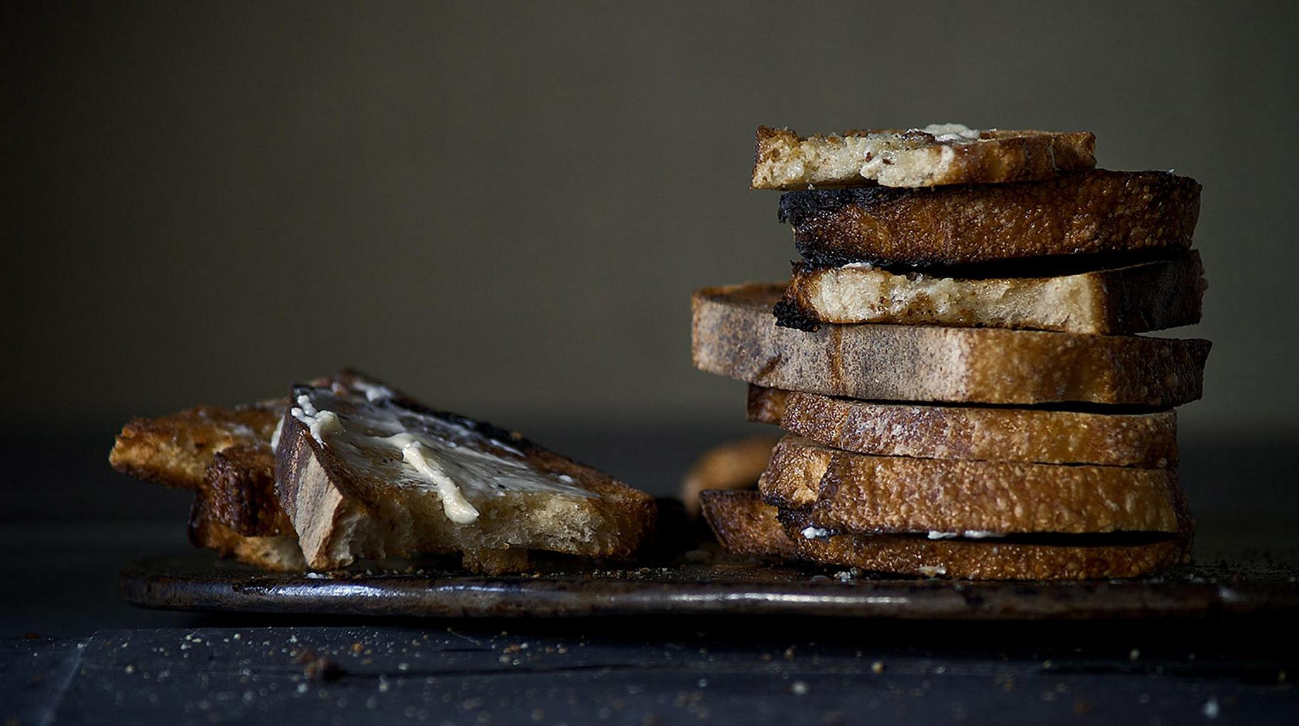 Photo of butter on bread