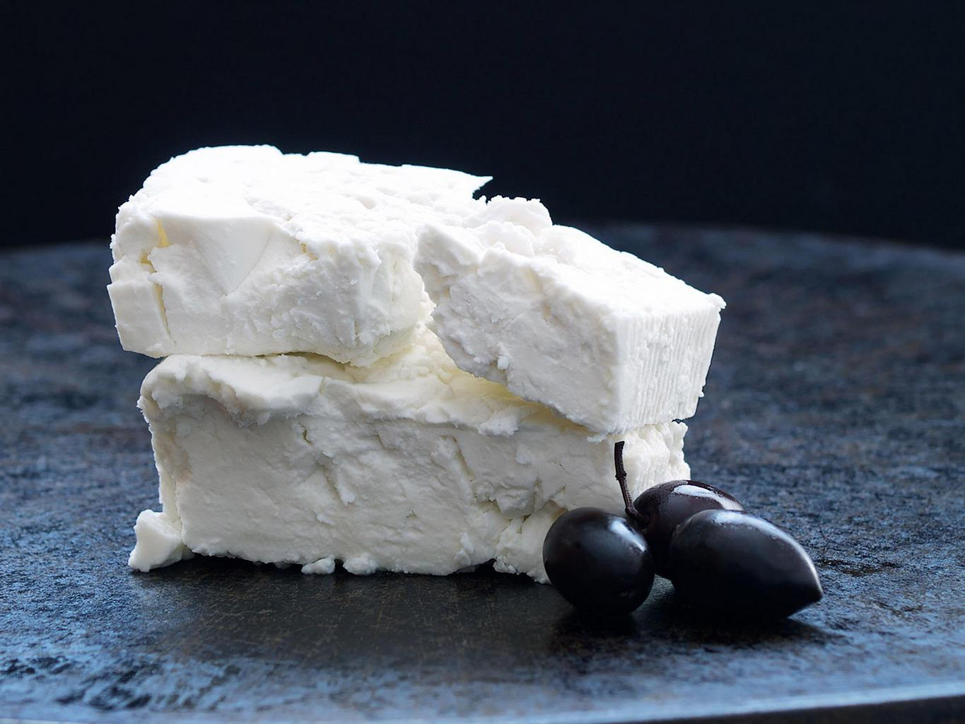 Food photography of feta